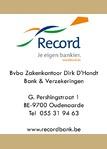 Bank Recordbank - Zakenkantoor Dirk Dhondt